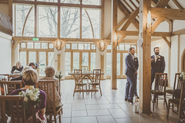 Wedding ceremony room at Rivervale Barn