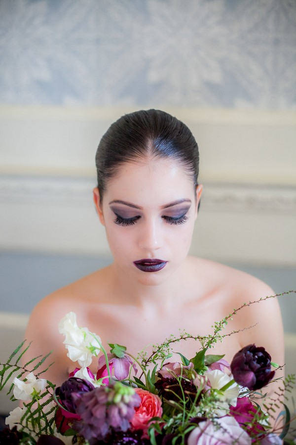 Bride with dark make-up
