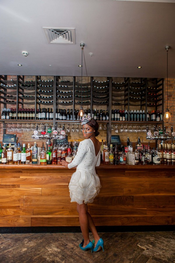Bride standing at in The Anthologist in London