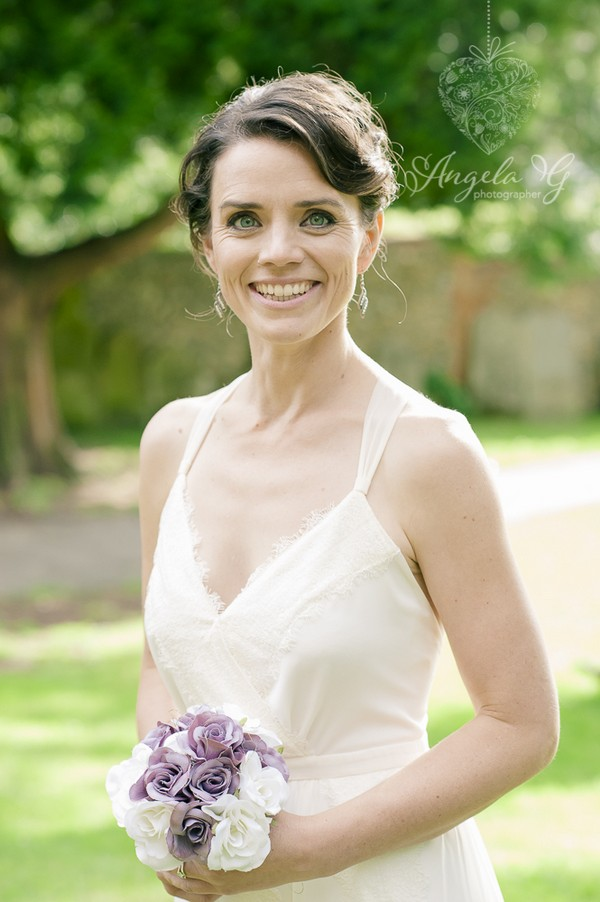 Bride smiling - Picture by Angela G Photographer