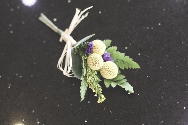 Buttonhole with craspedia