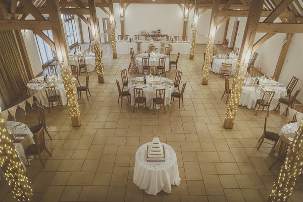 Reception tables in Rivervale Barn