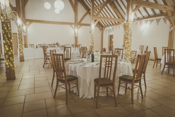 Wedding breakfast tables at Rivervale Barn