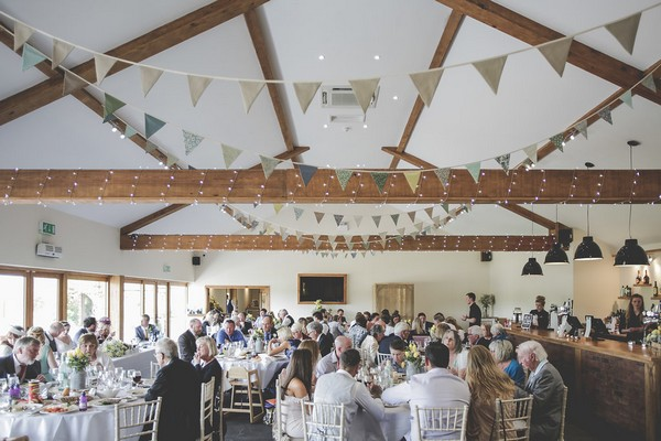 Wedding breakfast at Quantock Lakes