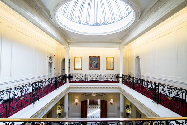 Gallery and skylight at Hedsor House