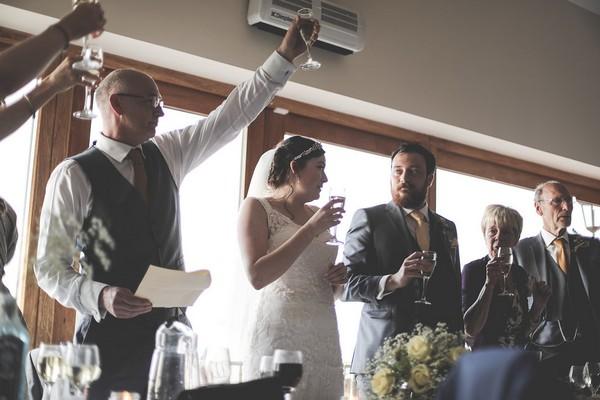 Toast after wedding speech