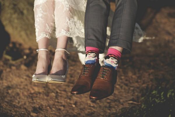 Groom's Snow White socks