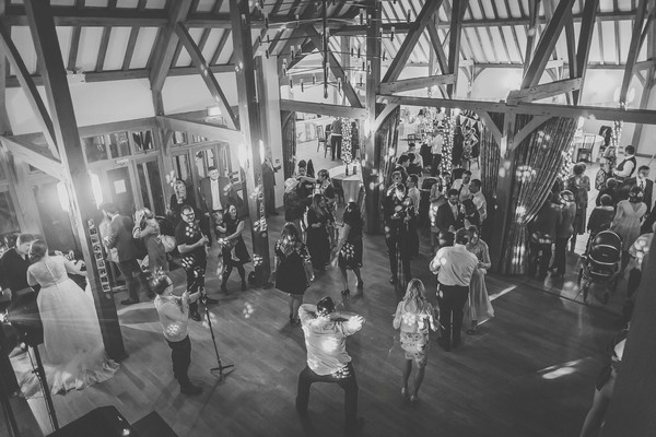 Wedding party in Rivervale barn