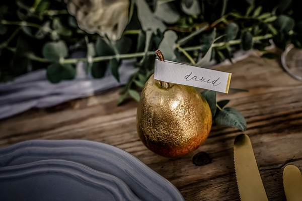 Gold pear wedding place name