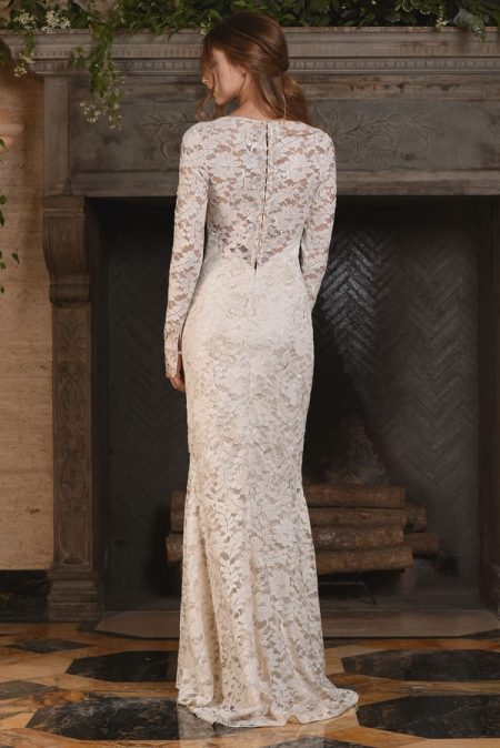 Back of Amber Wedding Dress from the Claire Pettibone The Four Seasons 2017 Bridal Collection