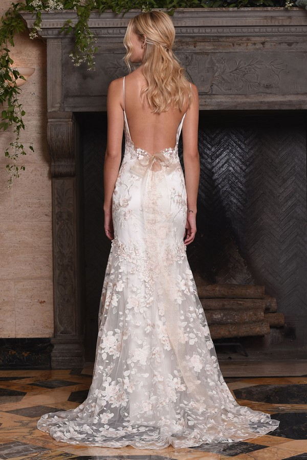 Back of April Wedding Dress from the Claire Pettibone The Four Seasons 2017 Bridal Collection