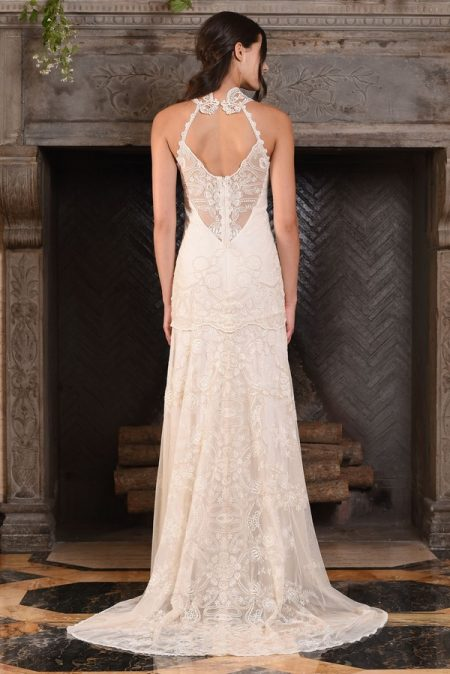 Back of Athena Wedding Dress from the Claire Pettibone The Four Seasons 2017 Bridal Collection