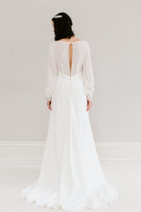 Back of Bluebell wedding dress from the Rolling in Roses Cynthia Rose 2017 collection
