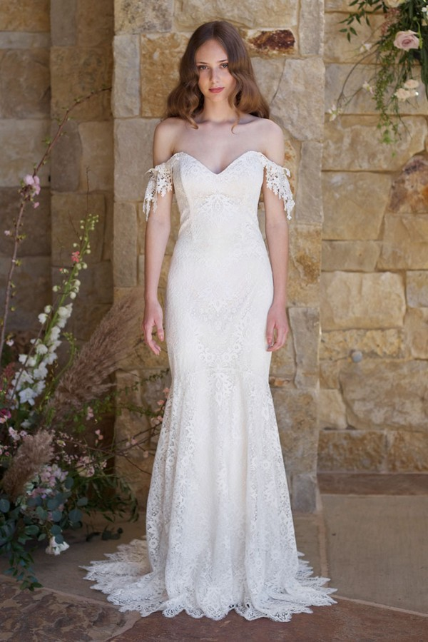 Bordeaux Wedding Dress from the Claire Pettibone Romantique The Vineyard Collection 2018