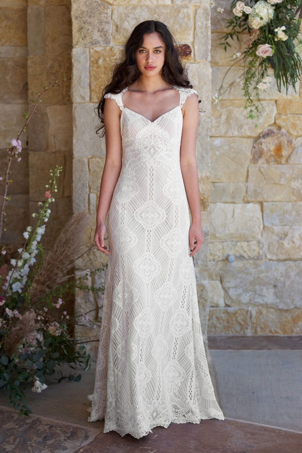 Calistoga Wedding Dress from the Claire Pettibone Romantique The Vineyard Collection 2018