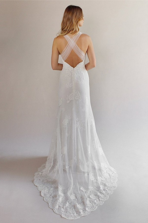 Back of Carmel Wedding Dress from the Claire Pettibone Romantique California Dreamin' 2017 Bridal Collection