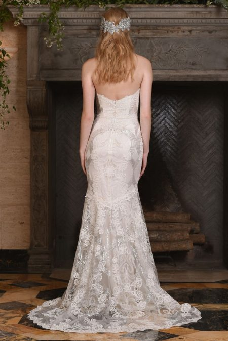 Back of Celeste Wedding Dress from the Claire Pettibone The Four Seasons 2017 Bridal Collection