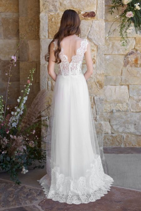 Back of Chardonnay Wedding Dress from the Claire Pettibone Romantique The Vineyard Collection 2018
