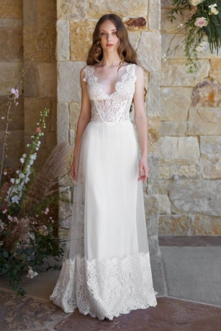 Chardonnay Wedding Dress from the Claire Pettibone Romantique The Vineyard Collection 2018
