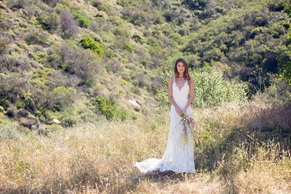 Carmel Wedding Dress by Claire Pettibone - Image from California Dreamin' Styled Shoot