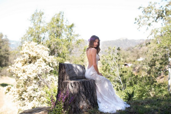 Del Rey Wedding Dress by Claire Pettibone - Image from California Dreamin' Styled Shoot