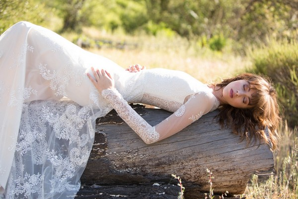 Pasadena Wedding Dress by Claire Pettibone - Image from California Dreamin' Styled Shoot
