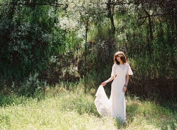 Silverlake Wedding Dress by Claire Pettibone - Image from California Dreamin' Styled Shoot