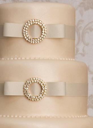 Close-Up of Monaco Nude Coloured Wedding Cake by Maisie Fantaisie