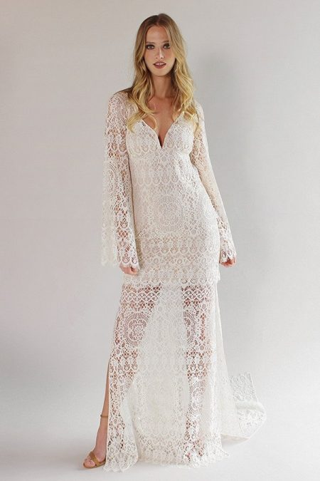 Coachella Wedding Dress from the Claire Pettibone Romantique California Dreamin' 2017 Bridal Collection