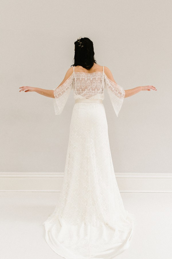 Back of Heather wedding dress from the Rolling in Roses Cynthia Rose 2017 collection