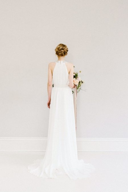 Back of Ivy wedding dress from the Rolling in Roses Cynthia Rose 2017 collection
