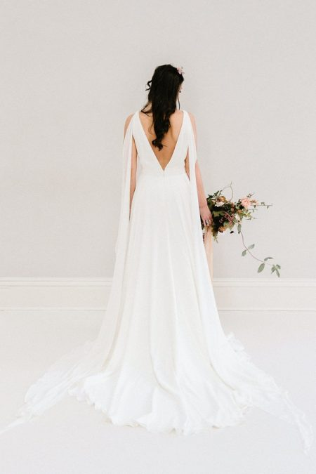 Back of Jasmine wedding dress from the Rolling in Roses Cynthia Rose 2017 collection