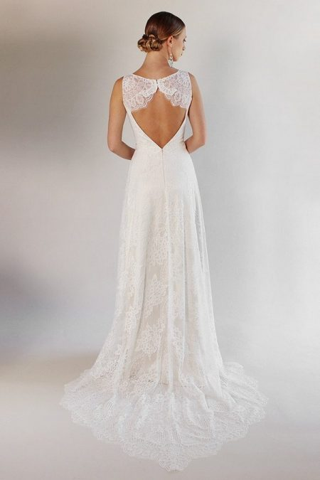 Back of La Cienega Wedding Dress from the Claire Pettibone Romantique California Dreamin' 2017 Bridal Collection