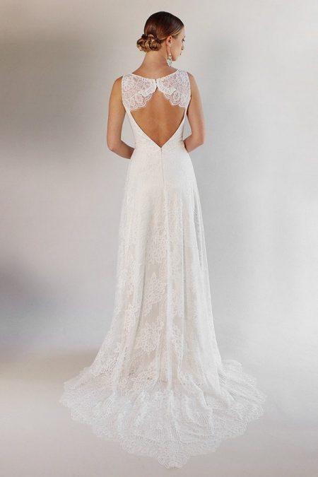 Back of La Cienega Wedding Dress from the Claire Pettibone Romantique California Dreamin' 2017 Bridal Collection