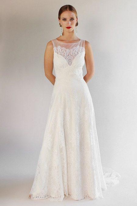 La Cienega Wedding Dress from the Claire Pettibone Romantique California Dreamin' 2017 Bridal Collection