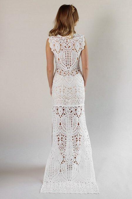 Back of Laguna Wedding Dress from the Claire Pettibone Romantique California Dreamin' 2017 Bridal Collection