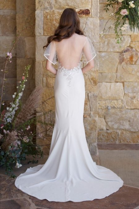 Back of Merlot Wedding Dress from the Claire Pettibone Romantique The Vineyard Collection 2018