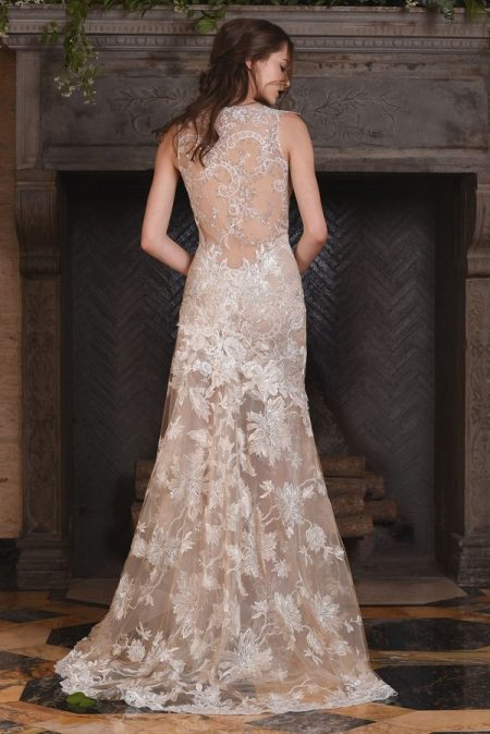 Back of Noel Wedding Dress from the Claire Pettibone The Four Seasons 2017 Bridal Collection