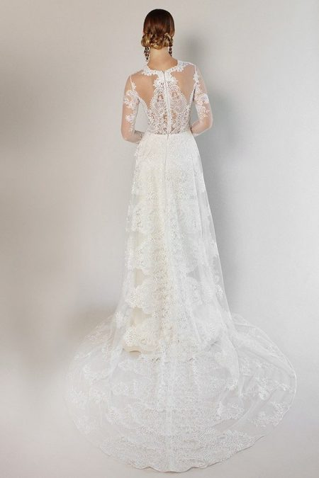 Back of Pasadena Wedding Dress from the Claire Pettibone Romantique California Dreamin' 2017 Bridal Collection
