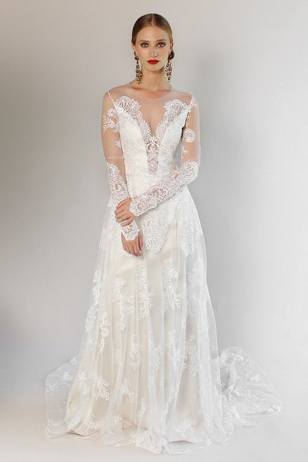 Pasadena Wedding Dress from the Claire Pettibone Romantique California Dreamin' 2017 Bridal Collection