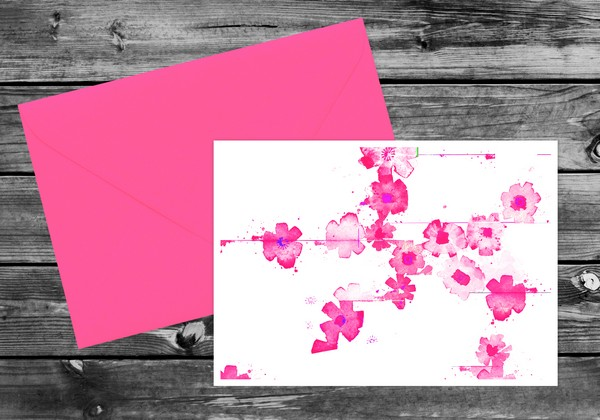 Pink Floral Watercolour Wedding Stationery by Ananya Cards