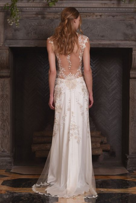 Back of Reverie Wedding Dress from the Claire Pettibone The Four Seasons 2017 Bridal Collection