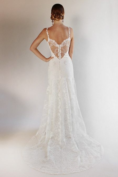 Back of Santa Monica Wedding Dress from the Claire Pettibone Romantique California Dreamin' 2017 Bridal Collection