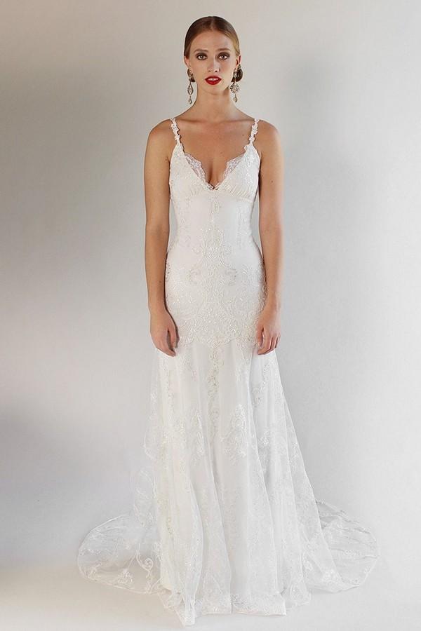 Santa Monica Wedding Dress from the Claire Pettibone Romantique California Dreamin' 2017 Bridal Collection