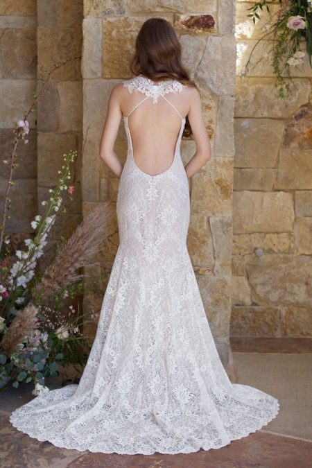 Back of Saratoga Wedding Dress from the Claire Pettibone Romantique The Vineyard Collection 2018