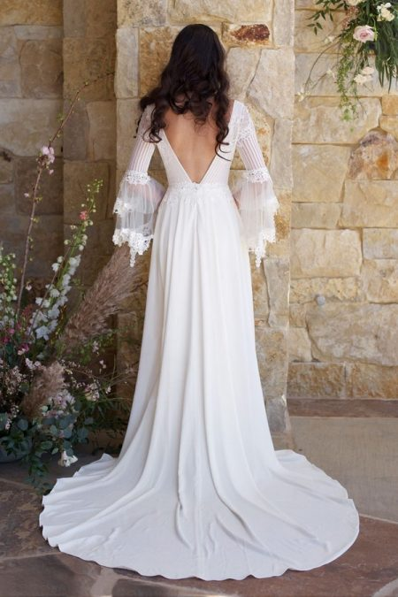 Back of Sauvignon Wedding Dress from the Claire Pettibone Romantique The Vineyard Collection 2018