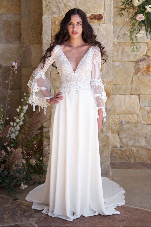 Sauvignon Wedding Dress from the Claire Pettibone Romantique The Vineyard Collection 2018