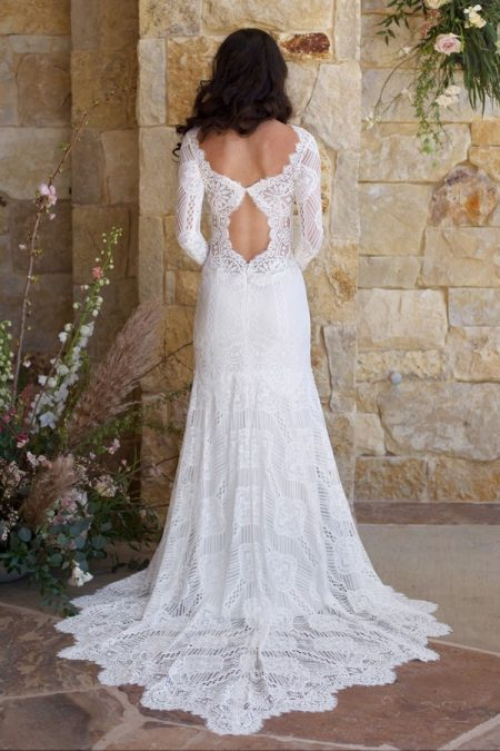 Back of Shenandoah Wedding Dress from the Claire Pettibone Romantique The Vineyard Collection 2018