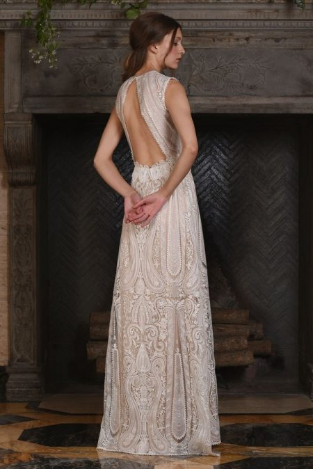 Back of Solstice Wedding Dress from the Claire Pettibone The Four Seasons 2017 Bridal Collection