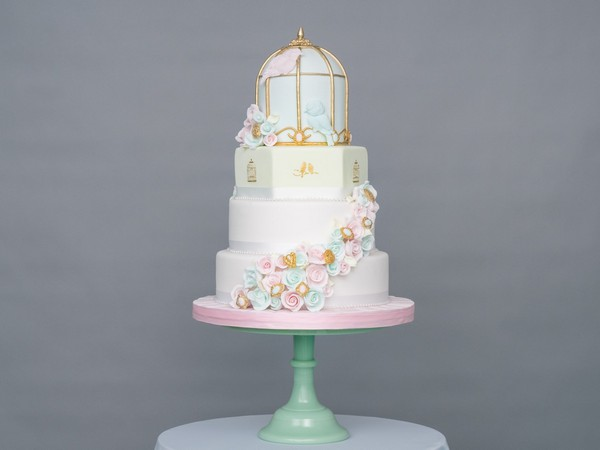 Springtime Sweethearts Wedding Cake by GC COuture